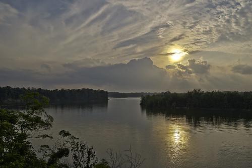 sunset ohio sky sun lake creek caesar caesarcreeklake esmithiii esmithiii2003 caesarcreeklakesunset