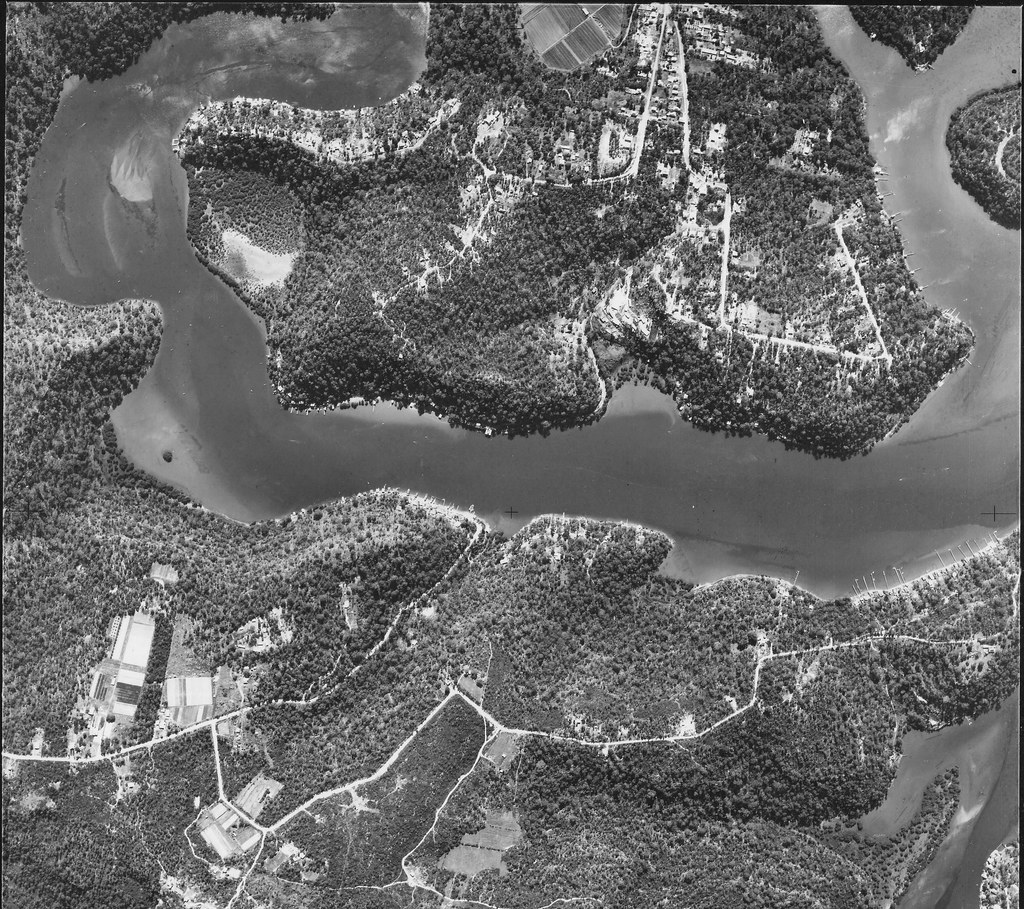 Lugarno and Illawong 1953 - Sydney aerial photo