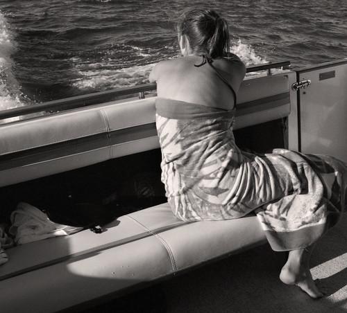 sunset summer blackandwhite bw sun 6x6 film girl swimming swim mediumformat boat tired scanned boating summertime summerfun kiev sunbathing kiev60 scannednegative devushka 6cmx6cm puremichigan oliviahill