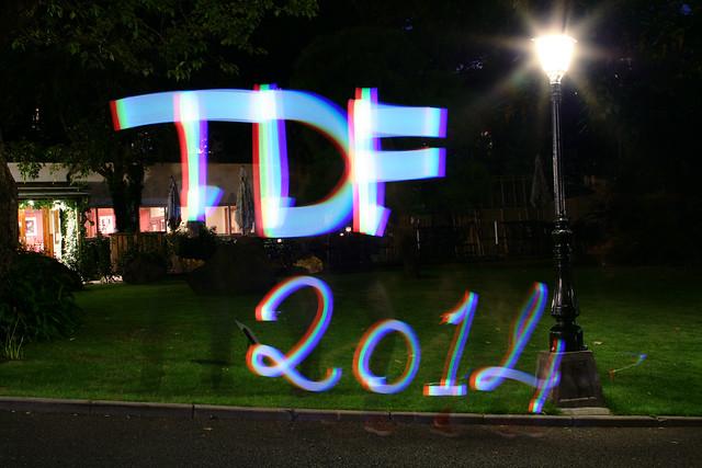 Tokyo Demo Fest 2014 light painting