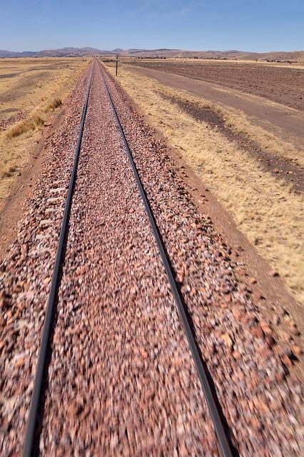 Train journey in Peru