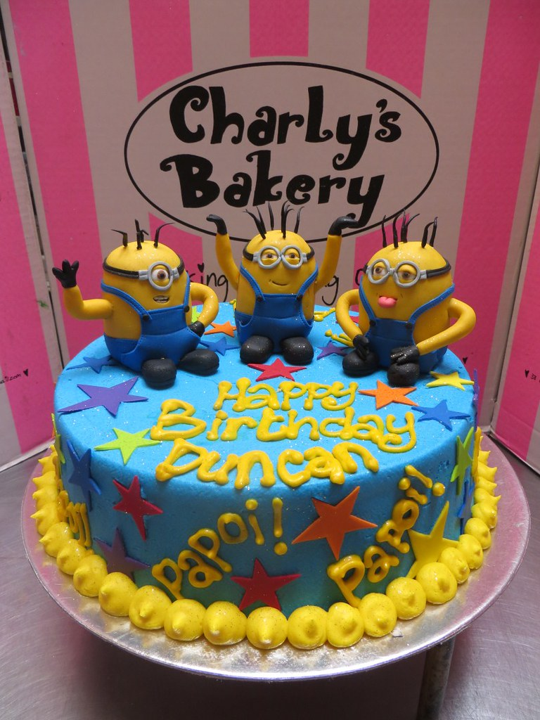 Amazing Minion Birthday Cake Charlys Bakery Flickr Funny Birthday Cards Online Eattedamsfinfo
