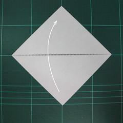 วิธีพับกระดาษเป็นนกพิราบแบบง่าย (Easy Origami Pigeon) 001