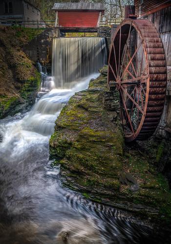 new ny history mill hope waterfall falls syracuse mills skaneateles