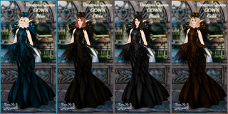 Dragoun Queen Gowns 4 Colors | by Bambi Chicque of BamPu Legacies
