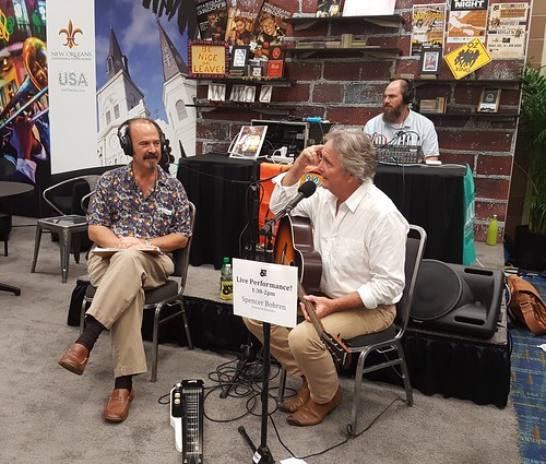 Bill DeTurk talks with Spencer Bohren as he performs on-air at IPW 2016