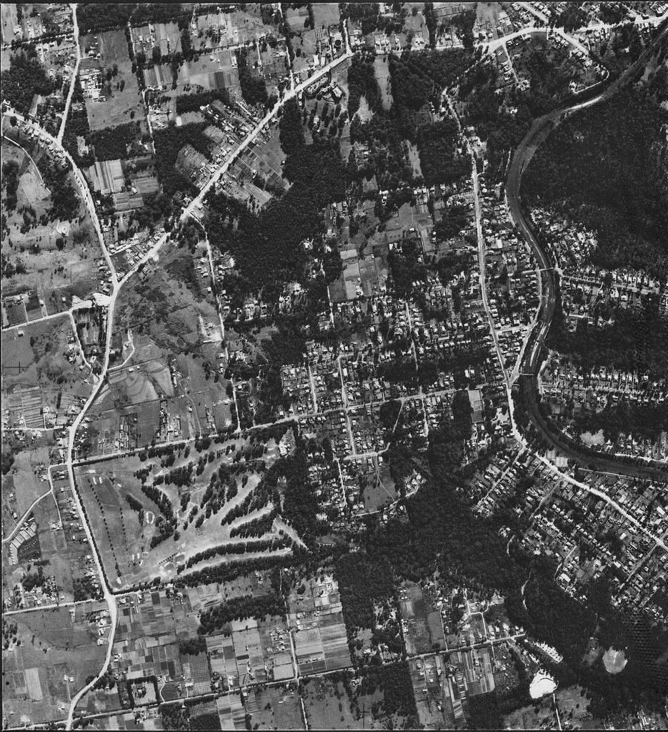 Beecroft & Cheltenham 1953 - Sydney aerial photo