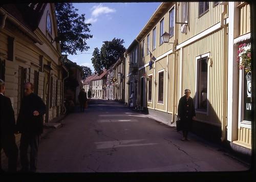 mainstreet sweden 1967 1960s shoppingstreet sigtuna pedestrianstreet oldestcity