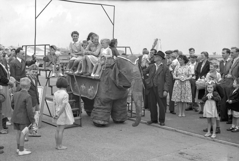 Riding on a Mechanical Elephant