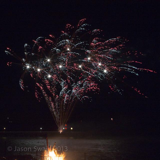Bonfire night firework party, Yarmouth, Isle of Wight - IMG_5710