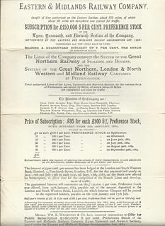 Eastern & Midlands Railway Prospectus 1884   by ian.dinmore
