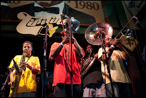 Hot 8 Brass Band at Tipitina's.  Photo by Ryan Hodgson-Rigsbee www.rhrphoto.com