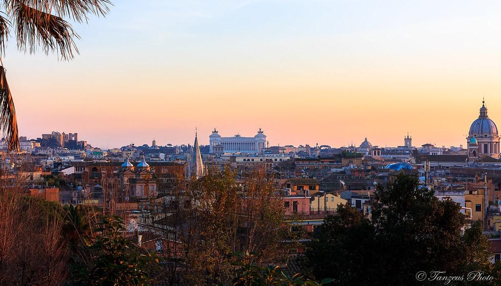 Sunset From Terrazza Del Pincio 2 Roma Lazio Italia Flickr