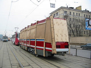 Moscow tram LT-5 delivery from factory_20030411_118 | by trolleway