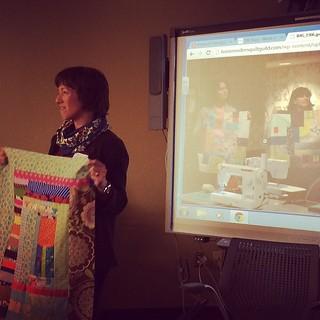 Lori sharing her conversation quilt, part of her #sewdown Portland experience :) #boisemqg