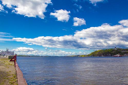 ferry canon river spring dock day traverse jour québec stlawrence stlaurent nuages quai printemps fleuve lévis 2013