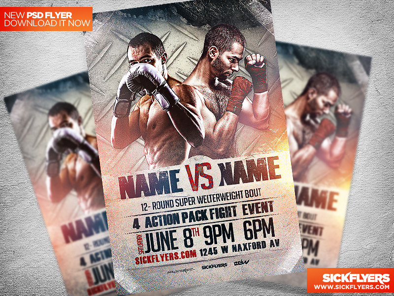 Boxing Flyer Template Psd Download At Sickflyers Com Downl Flickr