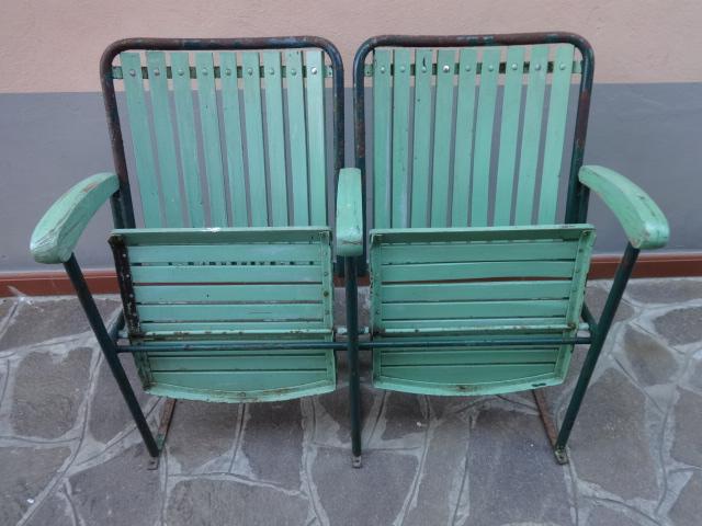 Sedie Da Cinema Vintage.Sedie Da Cinema All Aperto Vintage 2 Posti Laboratorio Vintage
