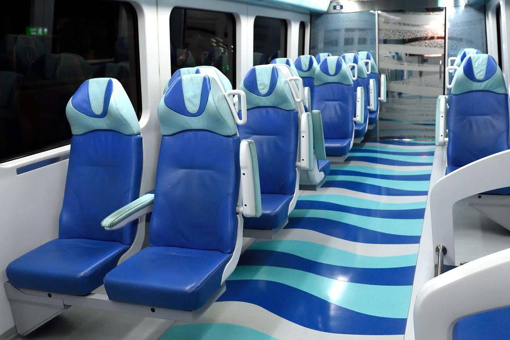 Gold Class car in Dubai Metro in Dubai, United Arab Emirates