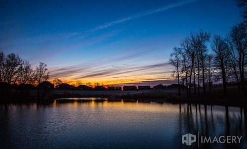 sunset sky lake reflection water sunrise golf pond golfcourse summit owensboro daviess pearlclub
