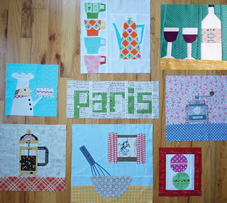 Paris Theme ~ I'd love more blocks for this round of the Cocorico Bee~