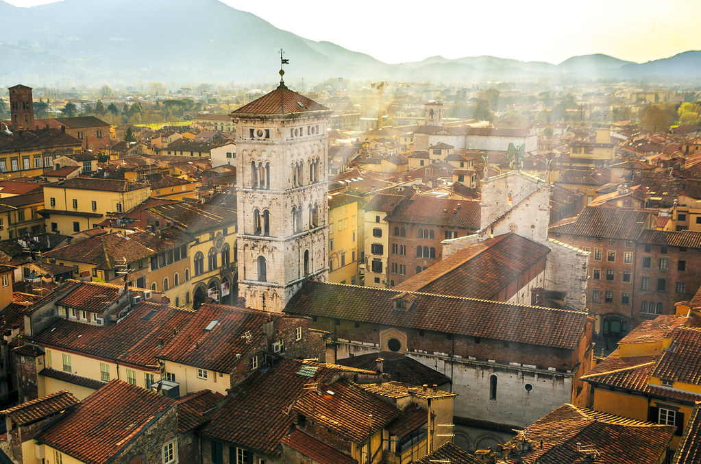 Sunlight over Lucca