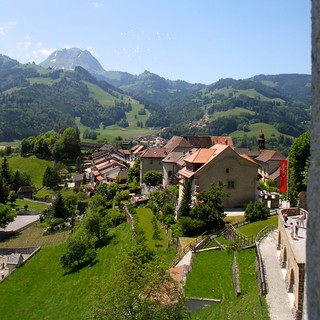 View from Chateau de Gruyères   by Henk Bekker
