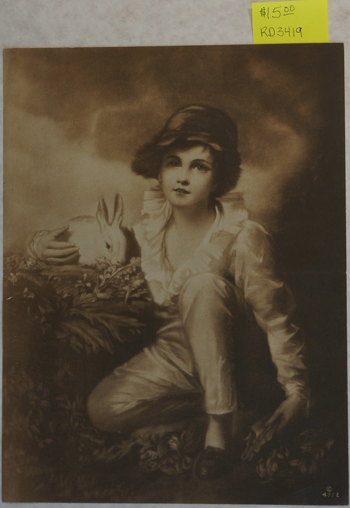 RD3419 Boy With Rabbit - Sir Henry Raeburn DSC04989