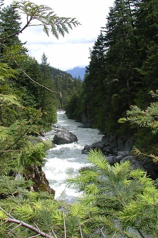 Green River, Nairn Falls Park, Pemberton, Sea to Sky Highway, British Columbia, Canada