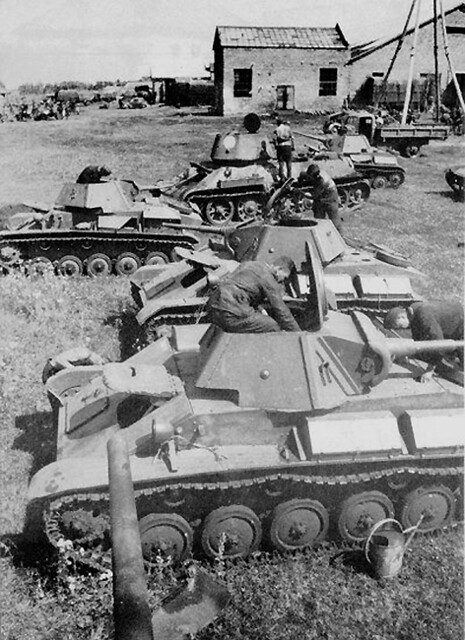 Russian T70 light tanks