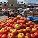 Tomato stand in market near Ramallah's main mosque