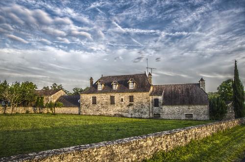 stone architecture landscape mas lot pierres paysage maison bâtiment hdr quercy pentaxk5