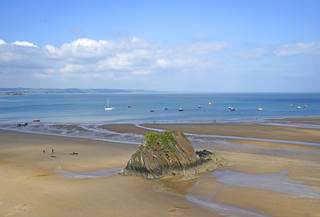 Tenby North Beach, Pembrokeshire, Wales