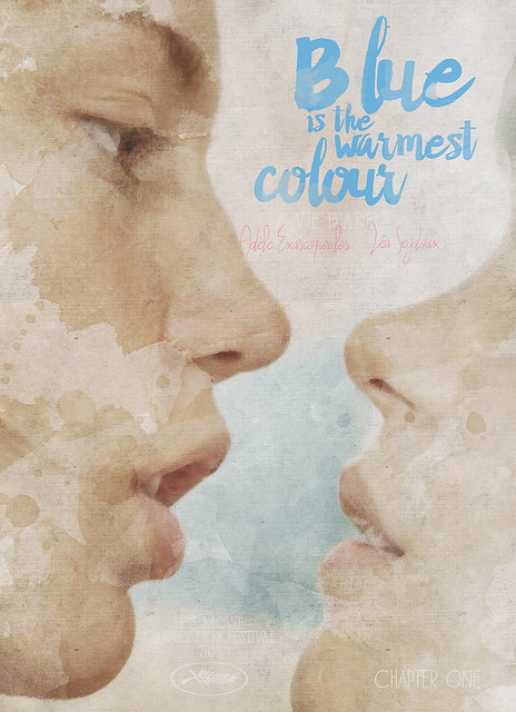 Blue is the warmest colour - chapter one - hand-painted movie poster