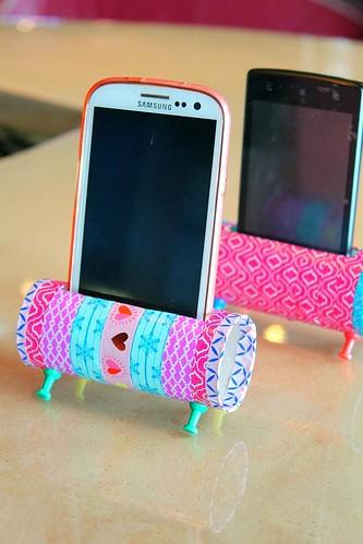 Easy DIY Phone Holder using toilet paper rolls
