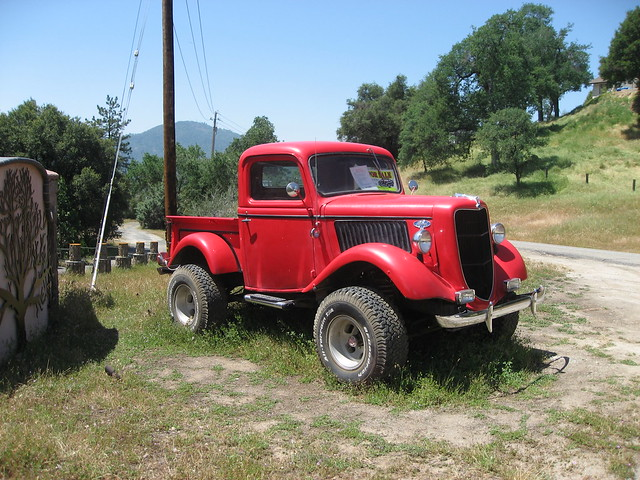 Tuff looking  1936 Ford 4x4 truck  in the wild