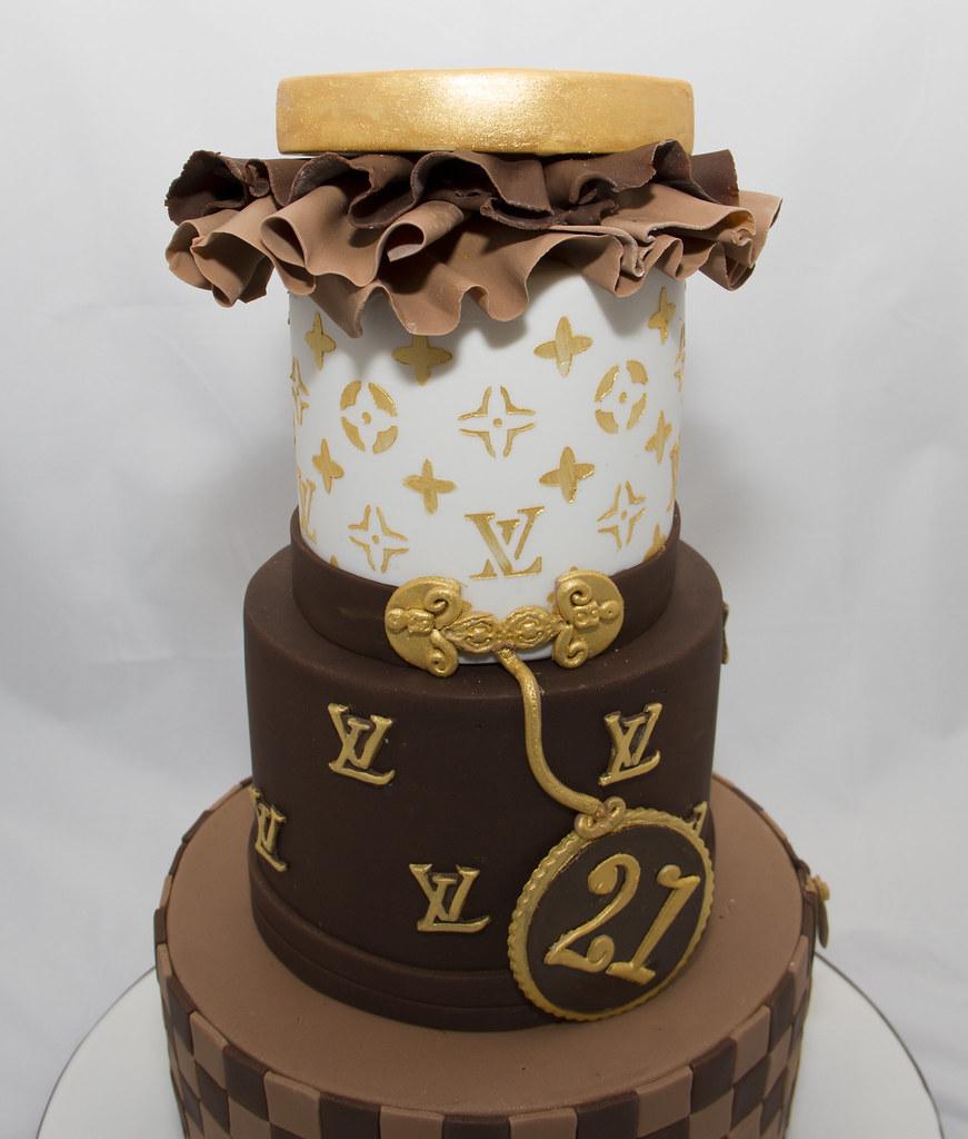 Incredible Louis Vuitton 21St Birthday Cake Koula Kakopieros Flickr Personalised Birthday Cards Veneteletsinfo