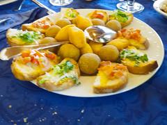 Olive Ascolane, Cremini and Bruschetta