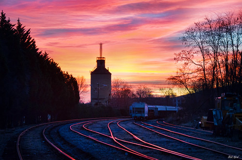 tower train sunrise virginia nikon downtown tracks charlottesville coal lightroom buckinghambranch topazadjust d5100 bobmical