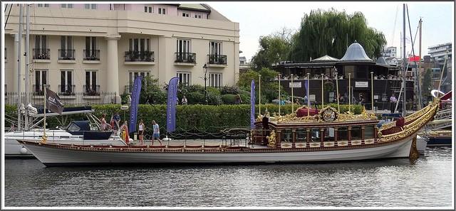 Gloriana -the royal jubilee barge at st Katherines dock London