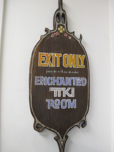 Enchanted Tiki Room exit sign | by The Tiki Chick