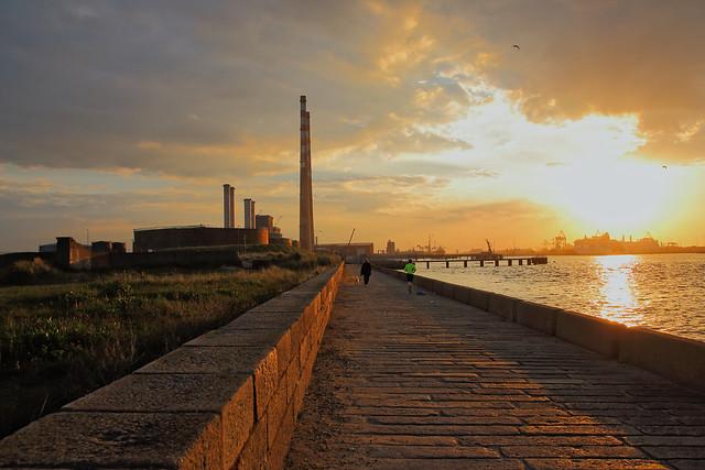 Sunset Over Dublin Bay