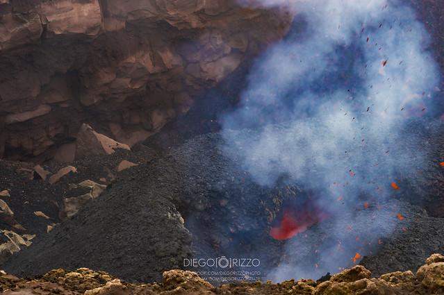 Pacaya´s crater