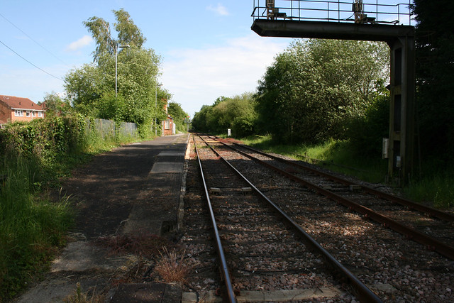 The disused Marchwood railway station