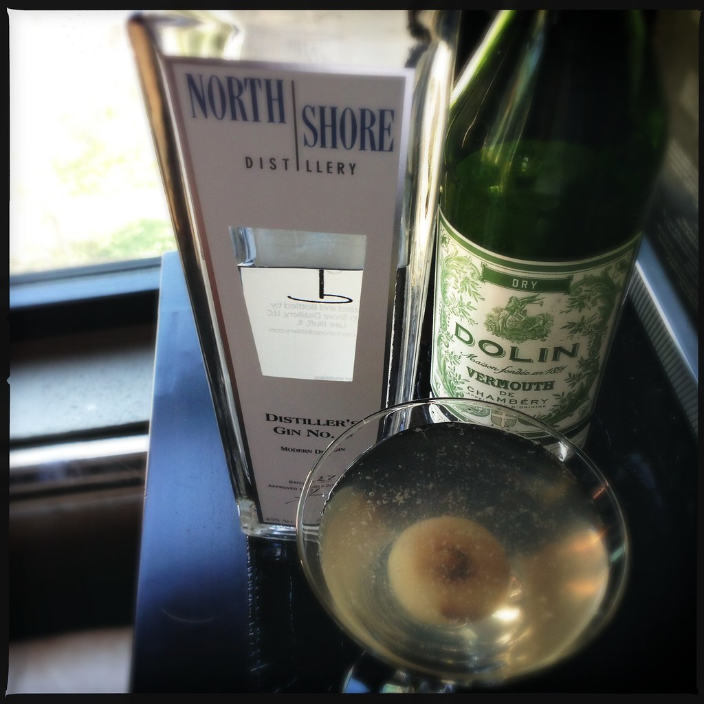 North Shore Distillery Gibson | Dirty martini (added the jui