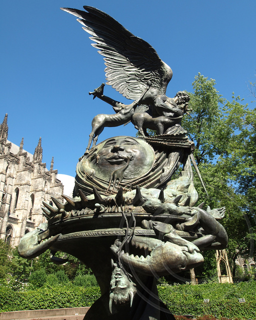 Peace Fountain by Greg Wyatt, Cathedral of Saint John the Divine, Morningside Heights, New York City