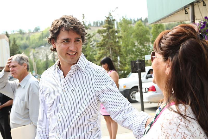 Justin at the Annual General Assembly of the Assembly of First Nations. / Justin lors de l'Assemblée générale annuelle de l'Assemblée des Premières Nations.