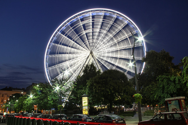 Budapest Eye at night 7