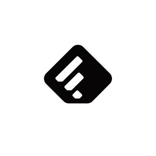 Feedly Monomark (W) designed by imjustcreative