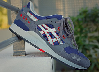 Asics Gel Lyte III Grey Navy Red Available @ SNKRS.COM